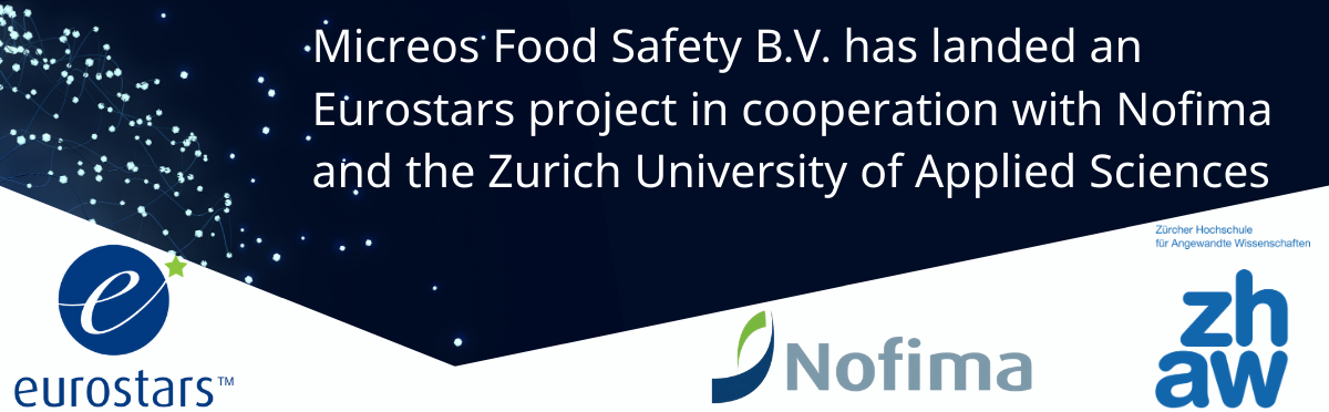 Micreos Food Safety B.V. has landed an Eurostars project in cooperation with Nofima and the Zurich University of Applied Sciences (ZHAW)